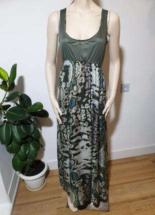 Длинное шелковое платье tandem