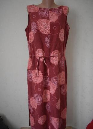 Новое платье с принтом большого размера marks & spencer