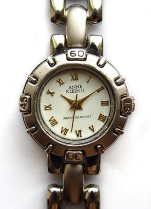 Anne klein реставрированные часы из сша мех. japan sii