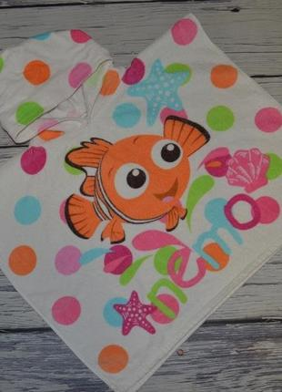 Фирменное детское полотенце пончо девочке махровое рыбка немо дисней disney оригинал