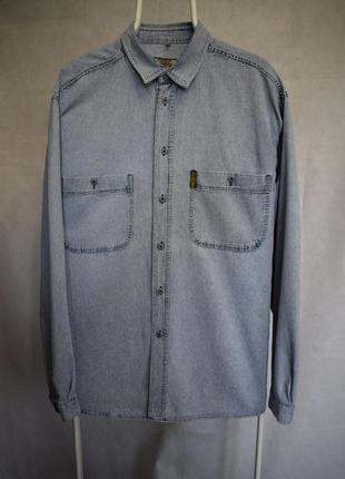 Джинсовая рубашка armani jeans vintage винтаж