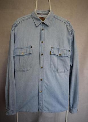 Джинсовая рубашка armani jeans vintage