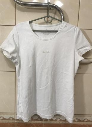 Футболка белая базовая футболка tom tailor