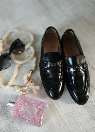 Стильные чёрные лоферы/туфли от marc o`polo-37р