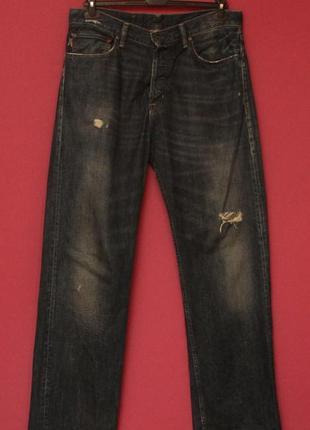 Polo ralph lauren 34 32 bradford relaxed  джинсы женим заводские потёртости