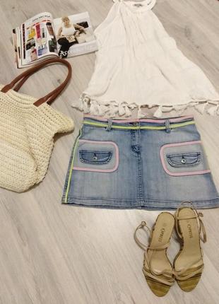 Фирменная женская джинсовая юбка. waggon.