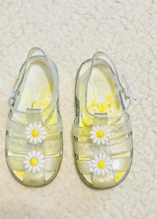 Босоножки сандали с блестками силиконовые
