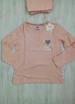 Пижама детская для девочки lupilu, 98/104, 2-4 года