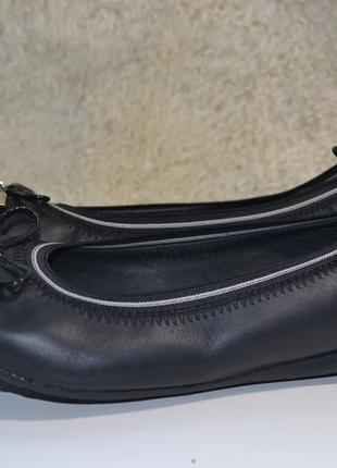 Geox respira 38р . туфли балетки летние кожаные оригинал