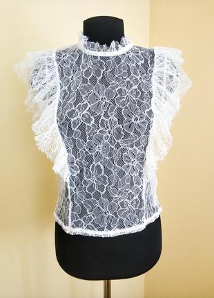 Наймовірна кружевна блузка new look petite