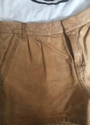 Шикарные кожаные шорты s-xs