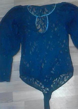 Боди блузка ажурная