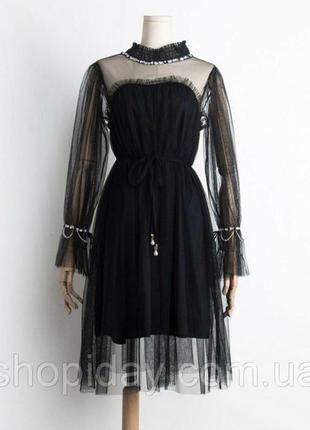 Фатиновое платье стильное