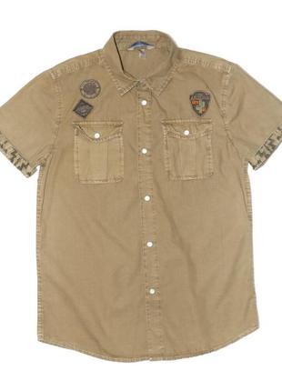 Рубашка хаки для мальчика, ovs kids, 4419543