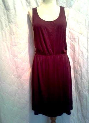 Вискозное платье цвета марсала, m2 фото