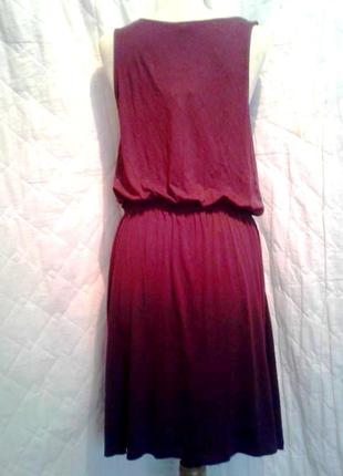 Вискозное платье цвета марсала, m3 фото