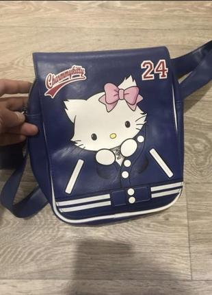 Продам кожаную сумку-рюкзак kitty