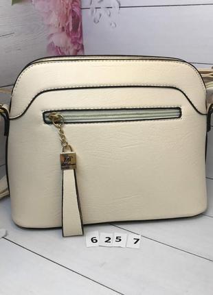 Стильная бежевая женская сумочка  к.6257, распродажа!2 фото