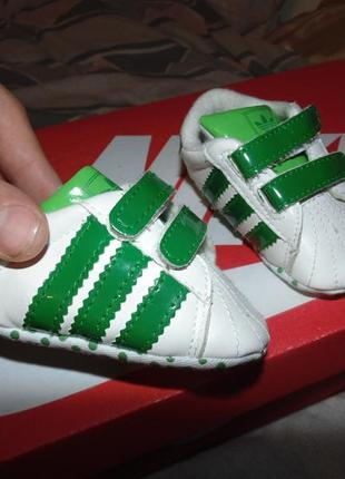 Пинетки кеды adidas кожа оригинал новые
