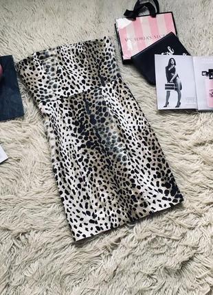 Экстравагантное платье леопард бюстье