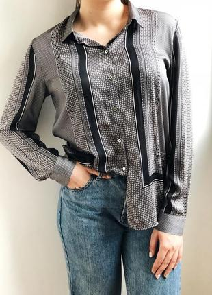 Роскошная атласная рубашка. потрясающий оттенок. бренд h&m