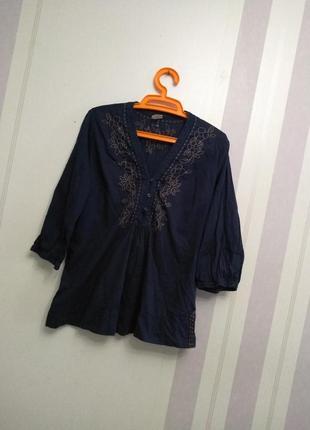 Блузка с вышивкой, хлопок,вышиванка