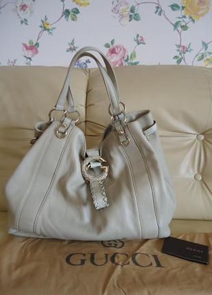 Новая! кожаная женская сумка gucci оригинал номерная есть пыльник