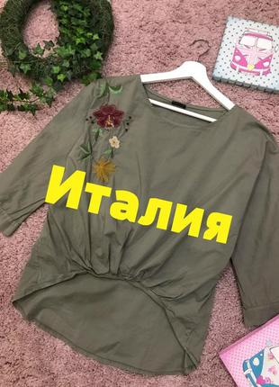 Роскошная рубашка с вышивкой. италия