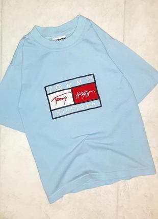 1+1=3 стильная футболка на мальчика 6 лет с лого tommy hilfiger
