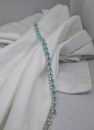 Срібний браслет з каміням