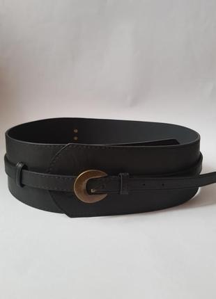 Стильный широкий поясной ремень,кожаный ремень корсет на талию,трендовый широкий ремень