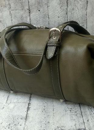 Кожаная сумка/бочонок tignanello