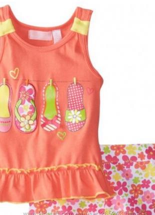 Костюм комплект летний для девочки kids headquarters