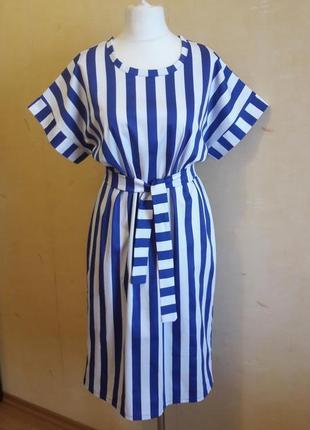 Платье в полоску платье коттон