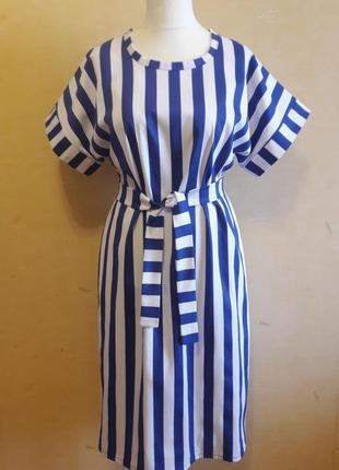 Платье в полоску платье коттон2 фото
