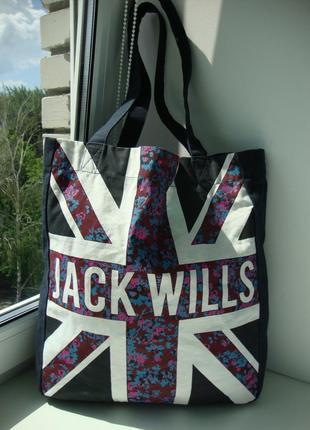 Стильна фірмова британська сумка шоппер jack wills. оригінал!!!