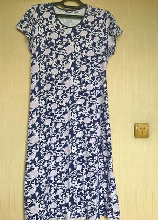 Платье из вискозного трикотажа