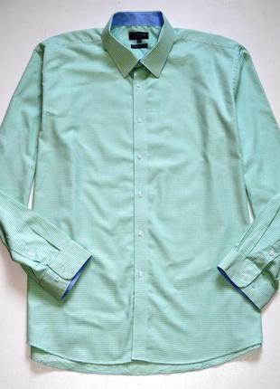 Matalan. красивая хлопковая салатовая рубашка. 18.5 . 47.