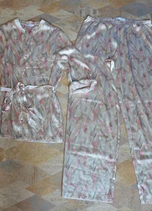 Пижама атласная /комплект для дома и сна m&s1 фото