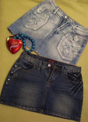Юбка джинсовая спідниця джинсова дві пари одним лотом