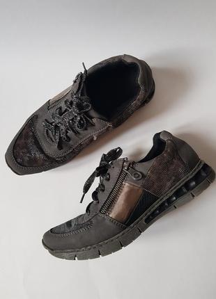 Качественные легкие кроссовки rieker,оригинальные мягкие слипоны,кроссовки для бега