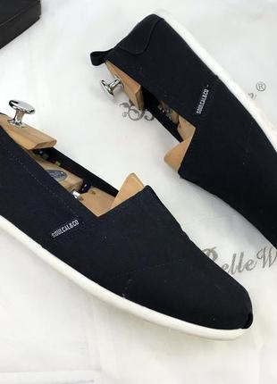 Эспадрильи мужские новые синие чёрные с текстиля тканевые летние тапки унисекс недорого