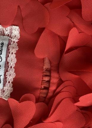 Платье красное, коралловое до колен, нарядное, выпускное, вечернее, летнее м8 фото