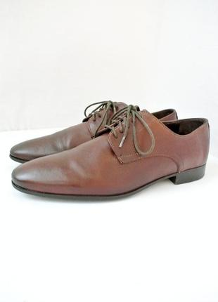 Стильные классические кожаные мужские туфли. размер 43-44.