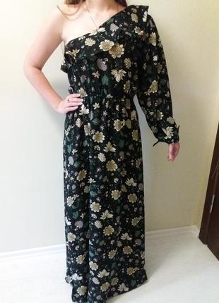 Платье макси в цветочный принт 10р.nasty gal