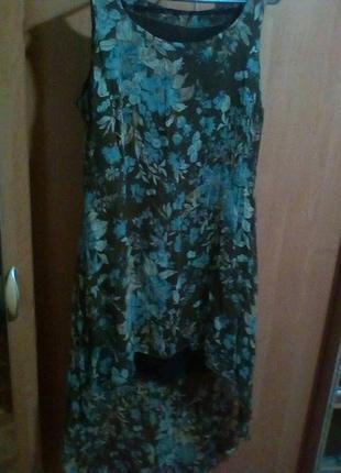 Платье со шлейфом летнее