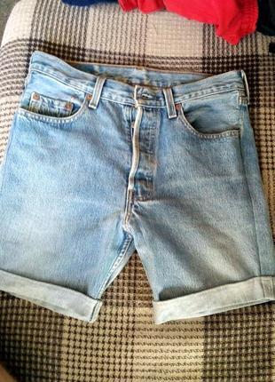 Мужские джинсовые шорты levi's 501