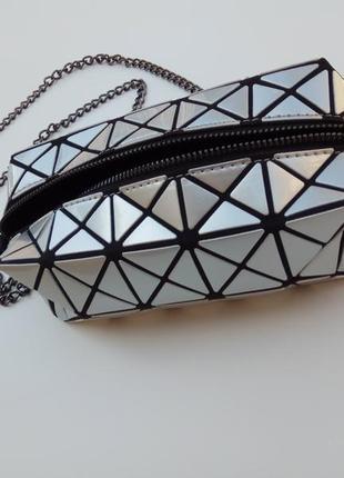 Baobao сумка клатч стальной ассиметрия