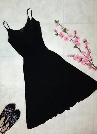 1+1=3 крутое черное платье zara в бельевом стиле из премиальной линейки, размер 44 - 46
