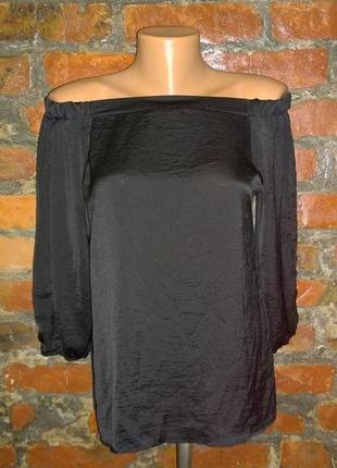 Блуза кофточка со спущеными плечами и разрезами на рукавах из мокрого шелка atmosphere